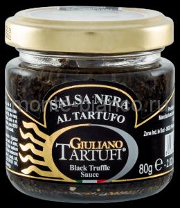 Соус Giuliano Tartufi грибной трюфельный с чернилами каракатицы, Италия