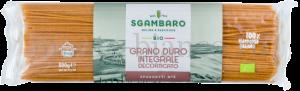 Макаронные изделия Sgambaro BIO Спагетти №5 цельнозерновые, Италия