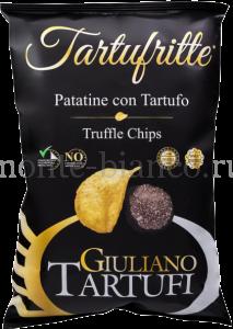 Чипсы  Giuliano Tartufi картофельные с черным трюфелем, Италия