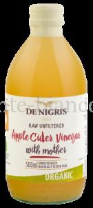 Уксус De Nigris Organic яблочный нефильтрованный, Италия