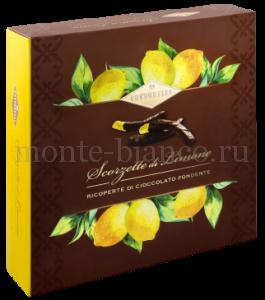 Цукаты Condorelli Лимон в темном шоколаде 250 г, подарочная коробка Италия