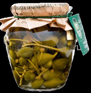Плоды каперсов Sant'Agata d`Oneglia в винном уксусе, Италия