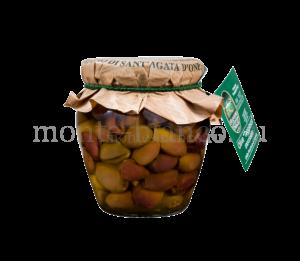 Оливки сорта ТАДЖАСКА Frantoio di Sant `Agata d` Oneglia без косточки в оливковом масле Extra Vergine, стекло 180 г
