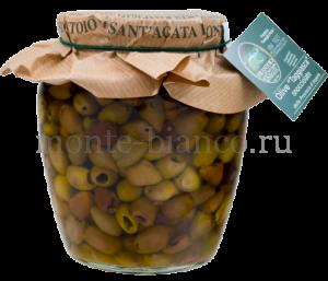 Оливки сорта «Таджаска» Frantoio di Sant`Agata d` Oneglia без косточки в оливковом масле Extra Vergine, Италия