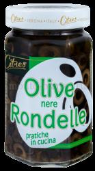 Оливки черные Citres без косточки резаные, Италия